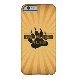 Bears Rule Bear Paw Barely There iPhone 6 Case