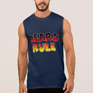 Bears Rule Bear Paw imprint Sleeveless Shirt