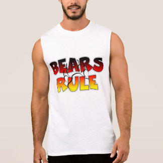 Bears Rule - Bear Paw imprint Sleeveless T-Shirt