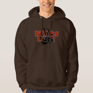 Bears Rule Brown on Black Paw HOT LOOKING Pullover