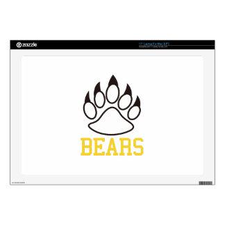 "Bears 17"" Laptop Decal"