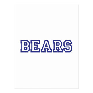 Bears  square logo in blue postcard