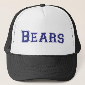 Bears square logo in blue trucker hat