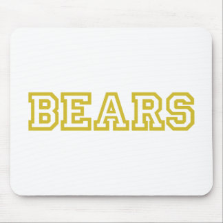Bears  square logo in gold mouse pad