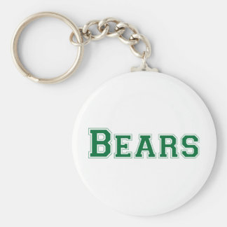 Bears square logo in green keychain