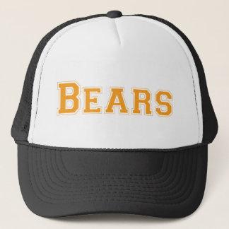 Bears square logo in orange trucker hat