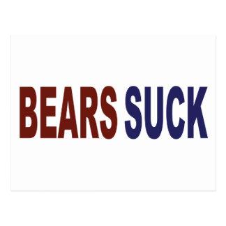 Bears Suck Postcard
