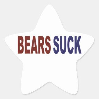 Bears Suck Star Sticker