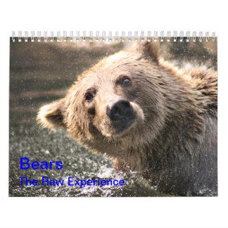 "Bears ""The Raw Experience"" Calendars"
