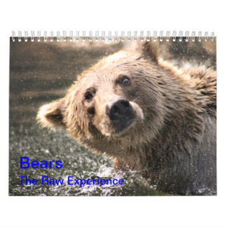 "Bears ""The Raw Experience"" Calendar"