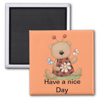 Bears to make you smile 2 inch square magnet