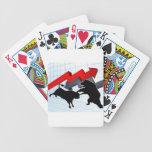 Bears Versus Bulls Stock Market Concept Bicycle Playing Cards