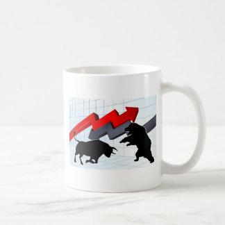 Bears Versus Bulls Stock Market Concept Coffee Mug