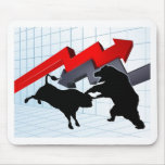 Bears Versus Bulls Stock Market Concept Mouse Pad
