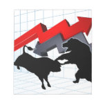 Bears Versus Bulls Stock Market Concept Notepad