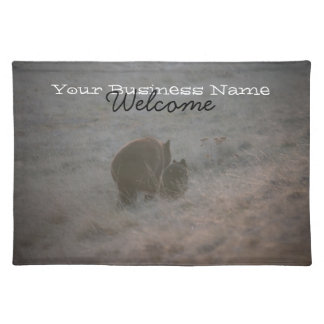 Bears Walking at Sunset; Promotional Cloth Placemat