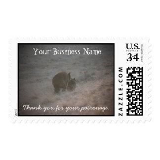 Bears Walking at Sunset; Promotional Postage