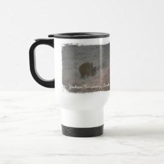 Bears Walking at Sunset; Yukon Territory Souvenir Travel Mug