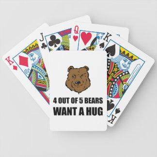 Bears Wants Hug Bicycle Playing Cards