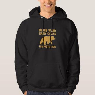 Bears Wear Hairy Coats Fur Protection Hoodie