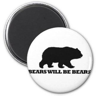 Bears Will Be Bears Refrigerator Magnets