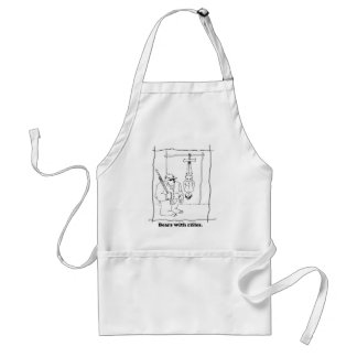 Bears with rifles adult apron
