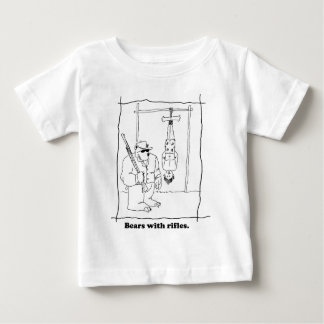 Bears with rifles baby T-Shirt