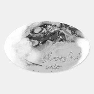 bearsfruit oval sticker