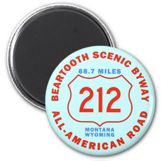 Beartooth Scenic Byway All American Road 2 Inch Round Magnet
