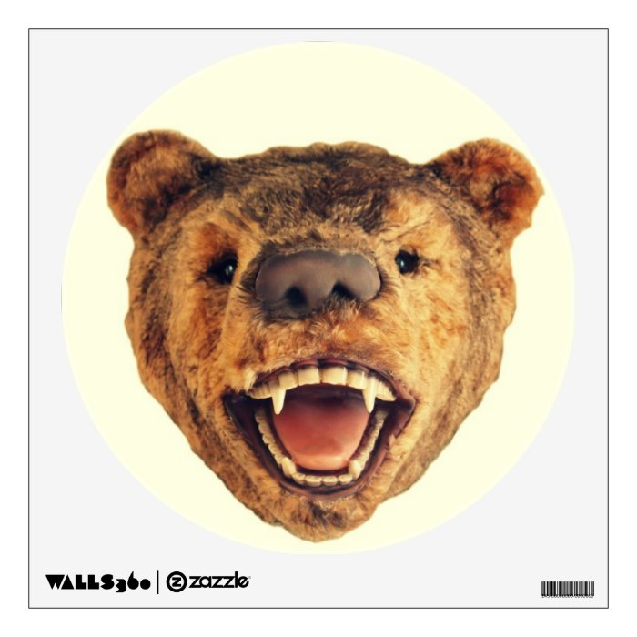Beartrum on the wall wall decal