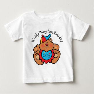Beary 1st Birthday Boy Baby T-Shirt