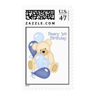 Beary 1st BIrthday (BOY) Stamp