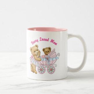 Beary amó a la mamá taza de café de dos colores