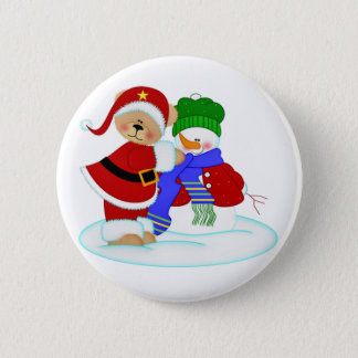 Beary and Snowy Pinback Button