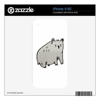 Beary bear iPhone 4S decal