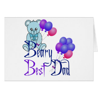 Beary Best Dad Card