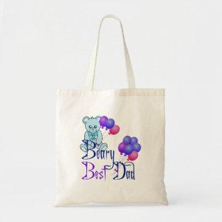 Beary Best Dad Tote Bag