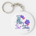 Beary Best Daddy Basic Round Button Keychain