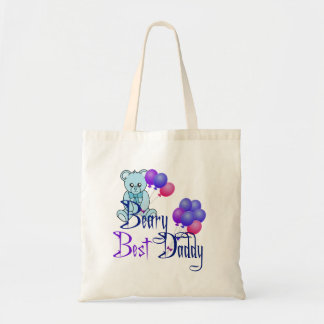 Beary Best Daddy Tote Bag