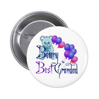 Beary Best Grandad Pinback Button