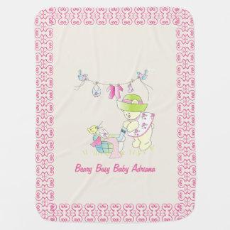 Beary Busy Baby Fancy Blanket