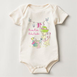 Beary Busy, Personalized Organic Onsie Baby Bodysuit