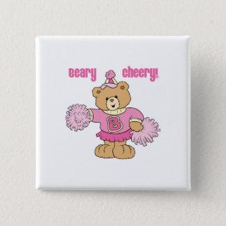 Beary Cheery Cheerleading Bear Button