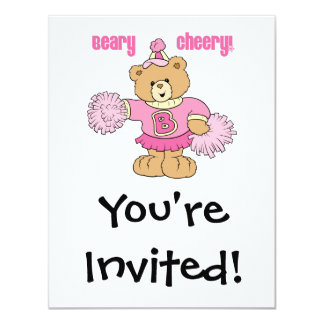 Beary Cheery Cheerleading Bear Card