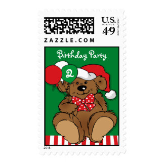 Beary Christmas Birthday Postage