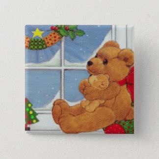 Beary Christmas Button