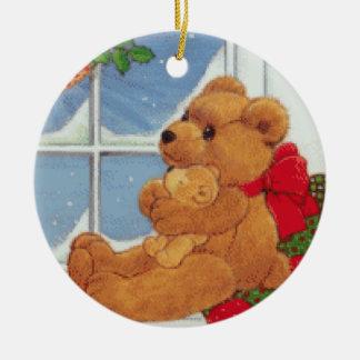Beary Christmas Ceramic Ornament