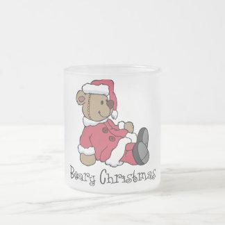 Beary Christmas Frosted Glass Coffee Mug
