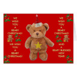 BEARY CHRISTMAS! Greeting card