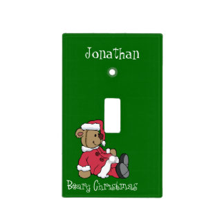 Beary Christmas Light Switch Cover